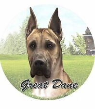 Es E & S Pets Absorbent Stoneware Car Cup Holder Coaster Dog Gift - Great Dane