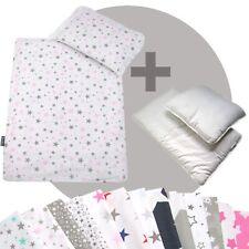 Bettwäsche-Set 4-tlg. für Kinderwagen Babybett Decke+Kissen+Füllung (STARS 3)
