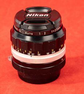 Nikon Nikkor-O Auto 35mm F/2  Lens Non-AI Lens