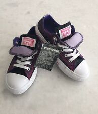 """CONVERSE """"CT All Star"""" Double Tongue Junior Girl's  Pink/Grape Sneakers~~Size 12"""