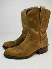 Vintage 1960s Acme Roughout Suede Leather Ranch Wellington Riding Boots 8.5 D
