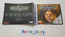 Nintendo Game Boy Animorphs Notice / Instruction Manual