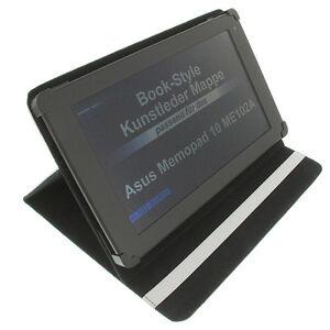 Sac pour Asus Memo Pad 10 ME102A Style Livre Tablette Étui de Protection Support