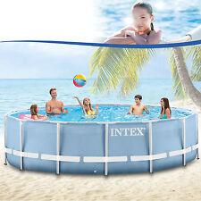 INTEX PISCINE SWIMMING POOL AVEC CADRE MÉTALLIQUE RONDE 457x122 cm