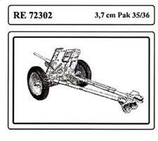 ATTACK HOBBY KITS RE 72302 - 3,7 cm Pak 35/36 - 1/72 RESIN KIT