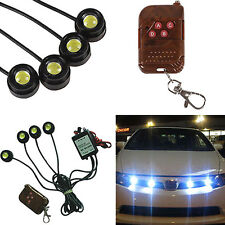 12V 4 in 1 Car Xenon White Hawkeye Emergency Flash Strobe LED Warning Light Fine