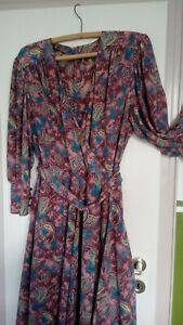 leichtes Damen Sommerkleid, Paisley, reine Chinesische Seide, Unikat, Gr. 44/46