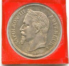 5 francs argent Napoléon III 1868 A n°E1472