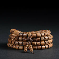 Natural Wenge 8mm 108 Beads Bracelet Tibetan Buddhist Buddhism Prayer Mala