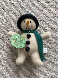 "NWT Fleece Navidad D. Frosty Plush Toy 6"" Ornament 1996 North American Bear Co"