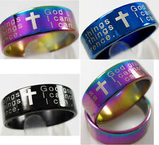 18  SERENITY prayer english text  stainless steel rings jewelry lots wholesale
