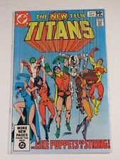 The New Teen Titans #9 Dc 1981 Deathstroke on last page! Very Nice Comic!