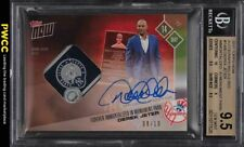 2017 Topps Now Immortalized Red Derek Jeter PATCH AUTO /10 BGS 9.5 GEM MINT
