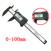 100mm/4inch LCD Digital Electronic Carbon Fiber Vernier Caliper Gauge Micrometer