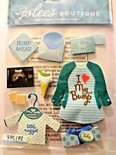 JOLEE'S Baby BOY ULTRASOUND Pregnancy BLUE  3D Scrapbook Stickers  9 pc  BABY