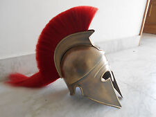 Greek Spartan Corinthian Helmet-Antique Style-Brass Item-Unique piece-Real Size""