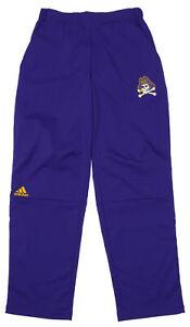 Adidas NCAA Men's East Carolina Pirates Team Logo Climalite Woven Pant, Purple