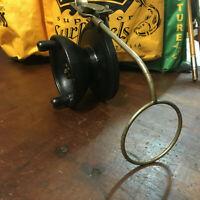 """Vintage Steelite Bakelite Fishing Reel 4 1/2"""" Spool Made in Australia"""