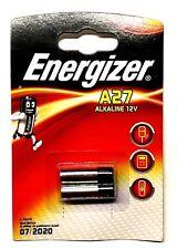 2 x Energizer A27 Alkaline Batteries 12V MN27 E27A DL27 L828 Remote Alarm