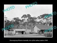 OLD LARGE HISTORIC PHOTO OF GNOWANGERUP WESTERN AUSTRALIA RAILWAY STATION c1940