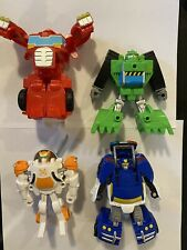 Transformers Rescue Bots Playskool Heroes Action Figures Lot Of 7 Plus Book