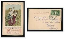 Spain 1903. Happy New Year {Feliz Año Nuevo} Posted from Havana to France.