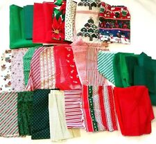 Christmas Cutter Fabric Mixed Lot 4 lbs Crafts Quilting Cotton Novelty Scrap