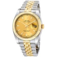 Rolex Datejust Champagne Index Jubilee Bracelet Two Tone Mens Watch RLX116233CSJ