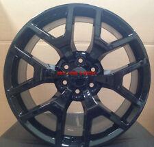 24 inch GMC Denali Style Wheels Gloss Black Rims Sierra Yukon Silverado Tahoe 26