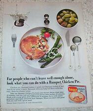 1973 ad page - Banquet frozen foods Chicken pot pie Dinner vintage print ADVERT