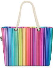 Color Stripes Beach Bag Batik Aquarell gestreift Streifen Farben bunt Baden