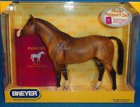 """BREYER TRADITIONAL PASSPORT TO MODEL HORSE COLLECTING DUN """"TRAKEHNER"""" NIB"""