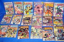 Lote de comics THE AVENGERS 31 numeros años 1985/1987 buen estado