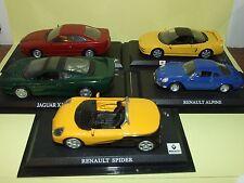 LOT DE 5 MODELES RENAULT, JAGUAR, HONDA, BMW DEL PRADO 1:43