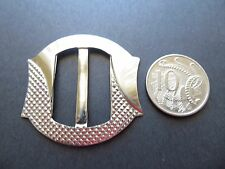 1930's 40's Sm Vintage Art Deco Silvered Metal Ladies Buckle-4.5cm x 4.2cm