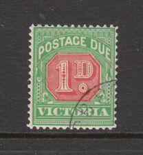 Victoria: 1d Postage Due Red & Green Wmk V Over Crown Upright Scarce Cto.