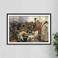 More details for ilya repin - the zaporozhye cossacks (1891) photo poster painting art print