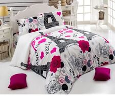 Paris Eiffel Tower Bedding Duvet Quilt Cover Set Single Size 3 PCS DHL EXPRESS