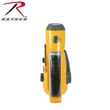 Rothco Solar/Wind Up Flashlight with Radio Yellow  80003