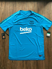 Nike FC Barcelona Fussball Trainingsshirt | Neu | Hellblau | Größe XL