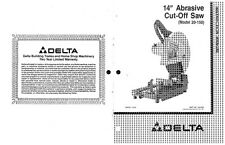 "Delta 20-150 14"" Abrasive Cut-Off Saw Instruction Manual"