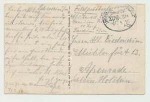 Bahnpostbeleg 1916, WISMAR-LUDWIGSLUST Zug 28 Feldpostkarte n. Apenrade (50931)