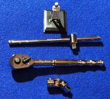 "Blue Point 3/8""dr Quick Release Ratchet + Sliding T-Bar +Universal Joint Set NEW"
