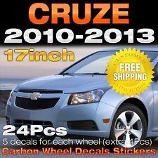 "Carbon Black Spoke Wheel Vinyl Decal Sticker 17"" 48Pcs for CHEVY 08-16 Cruze 4Dr"