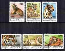 Cambodge 1998 Tigres (25) Yvert n° 1503 à 1508 oblitéré used
