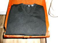men's sweater Black Size Large Calvin Klein Merino Wool L