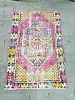 Floral Design Small Turkish Rug, Doormat Rug, Colorful Welcome Rug, Bathmat Rug