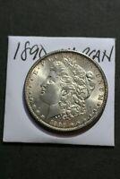 1890 Morgan Dollar, Nice Uncirculated, Old Philadelphia Mint Silver Coin