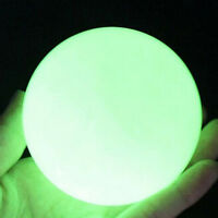 35mm Glow In The Dark Stone Green Luminous Quartz Crystal Sphere Ball & Stand s-