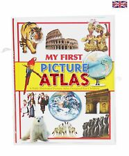 Children Kids  Educational Book My First Picture Atlas Hardcover 120 pp Omnibus